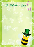 St.Patrick's Day postcard Stock Image
