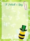 St.Patrick's Day postcard. Illustration of St.Patrick's Day frame royalty free illustration