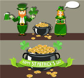 St. Patrick`s Day poster design Royalty Free Stock Photo