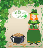 St. Patrick`s Day poster design Stock Images