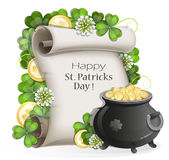 St. Patrick's Day poster design Royalty Free Stock Photo