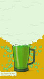 St. Patricks Day poster. Green beer Royalty Free Stock Photography