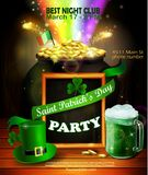 St. Patrick s Day poster. Vector illustration. For party Royalty Free Stock Photo