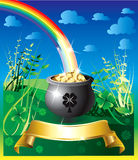 St. Patrick's Day Rainbow 2 Stock Image