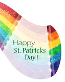 St. Patrick's Day rainbow Stock Image