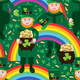 St. Patrick's Day rainbow seamless pattern Stock Photos
