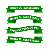 St patricks day ribbons Stock Photography