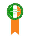 St Patricks day rosette Royalty Free Stock Photo
