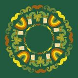 St.Patrick`s day round background. This is file of EPS8 format Stock Photography