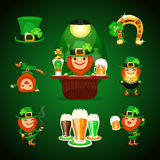 St.Patrick's Day's set with horseshoe Stock Photos