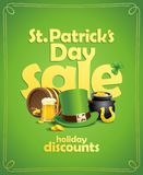 St. Patrick`s day sale banner concept Stock Image