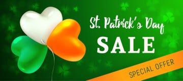 St Patrick`s Day Sale vector illustration