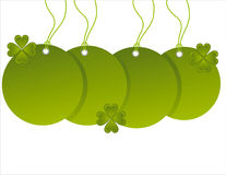 St. patrick's day sale tags Royalty Free Stock Photos