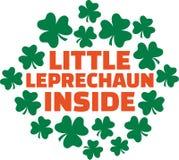 St. Patrick`s Day saying for pregnant women - Little Leprechaun inside. Vector Stock Images