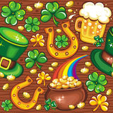 St. Patrick's Day seamless background Stock Photos