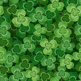 St. Patricks day seamless background with shamrock. Seamless background with green shamrock Stock Image