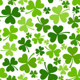 St. Patricks day seamless background with shamrock Royalty Free Stock Image