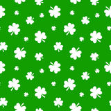 St. Patricks day seamless background with shamrock Stock Image