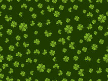 St. Patrick`s day. Seamless pattern with clover on a green background. Vector Stock Photos