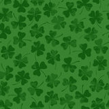 St. Patrick's day seamless pattern with clover Stock Photography