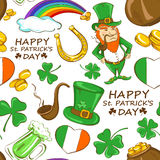 St. Patrick's day seamless pattern Royalty Free Stock Photos