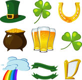 St. Patrick's Day set Royalty Free Stock Photo