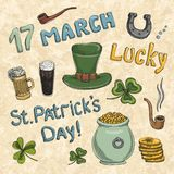 St. Patrick's Day set Royalty Free Stock Photography