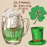 St. Patrick's Day set. Hand drawn illustrations Royalty Free Stock Photo