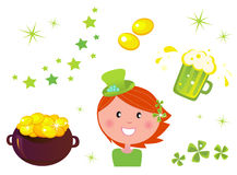 St. Patrick's Day Set & icons Stock Images