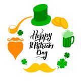 St. Patrick`s Day set with royalty free illustration