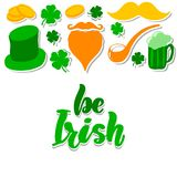St. Patrick`s Day set with stock illustration
