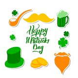 St. Patrick`s Day set with vector illustration