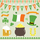 St Patrick's Day Set Stock Photography