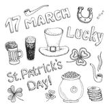 St. Patrick's Day set Royalty Free Stock Photos