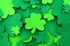 St Patrick's Day shamrock background Stock Photography