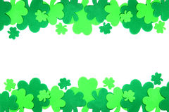 St Patrick's Day shamrock border Royalty Free Stock Photos