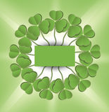 St. Patrick's Day Shamrock circle green Royalty Free Stock Photos
