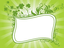 St. patrick's day shamrock flower frame 17 march Stock Images