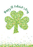 St. Patrick's Day Shamrock made of Confetti - vector Stock Photo