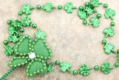 St Patrick's Day Shamrocks Stock Photo