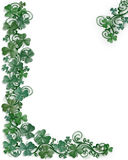 St Patrick's day Shamrocks border Stock Images