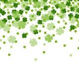 St. Patrick`s Day Shamrocks 4 Leaf Clover Background royalty free illustration