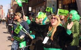 St. Patrick's day spectators Stock Photography