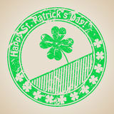 St Patrick's day stamp design Stock Images