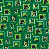 St patrick`s day stamp pattern Stock Image