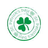 St. Patrick`s day stamp. On white background Royalty Free Stock Images