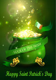 St. Patrick s Day symbol green pot Royalty Free Stock Images