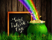 St. Patrick s Day symbol green pot Stock Photos