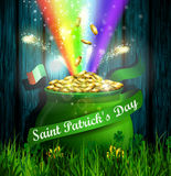 St. Patrick s Day symbol green pot Royalty Free Stock Photos