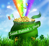 St. Patrick s Day symbol green pot Royalty Free Stock Photo